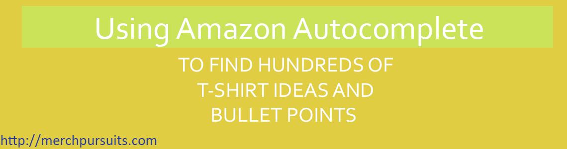Amazon Autcomplete Merch By Amazon