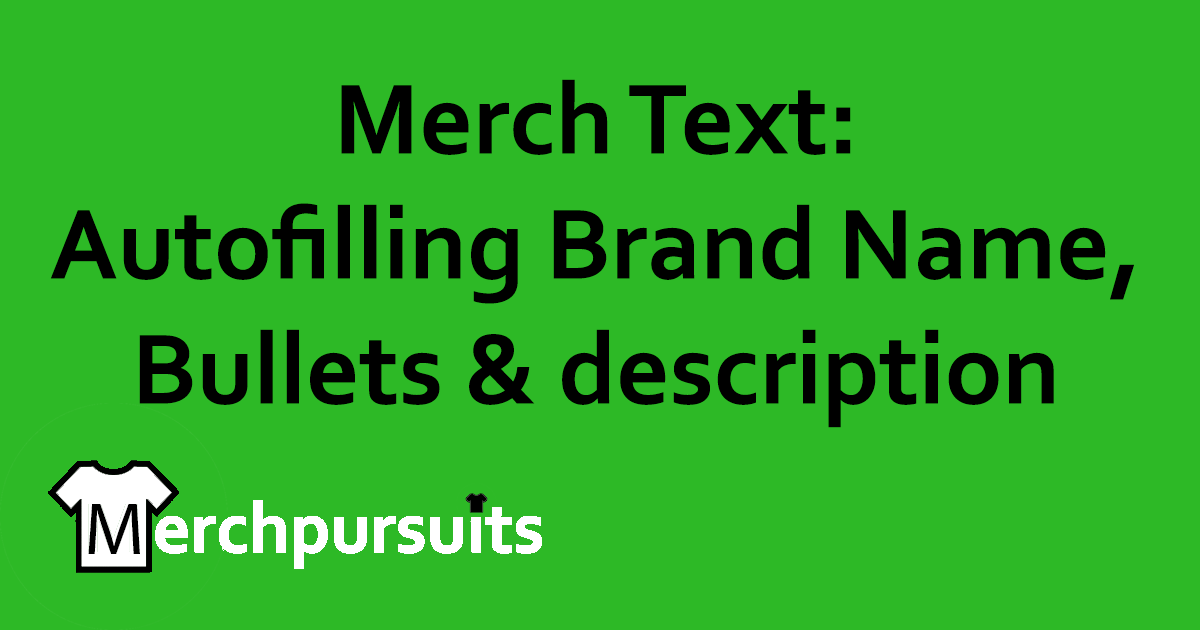 green merch text FB header